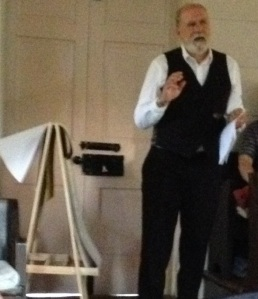 Phillip Smith at the Quaker Meeting House